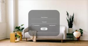 The login screen of Interior Define