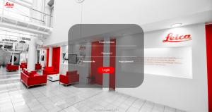 The login screen of Leica Biosystems