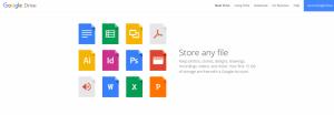 Die Benutzeroberfläche von Google Drive.