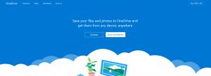 Die Benutzeroberfläche von OneDrive.