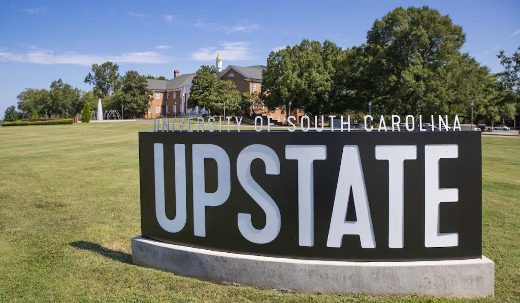 The sign of the University of South Caroline (USC) Upstate.