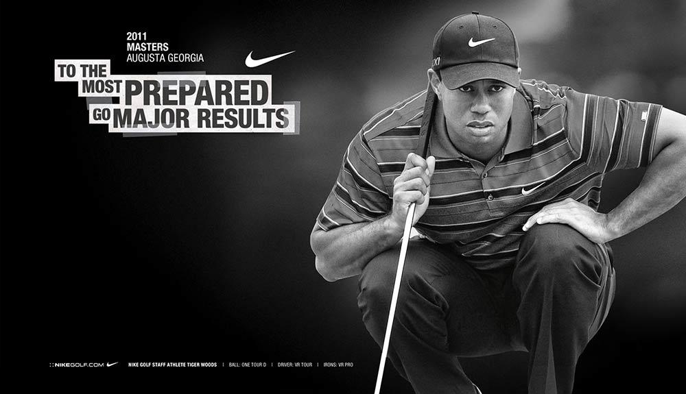 Pro golfer Tiger Woods.