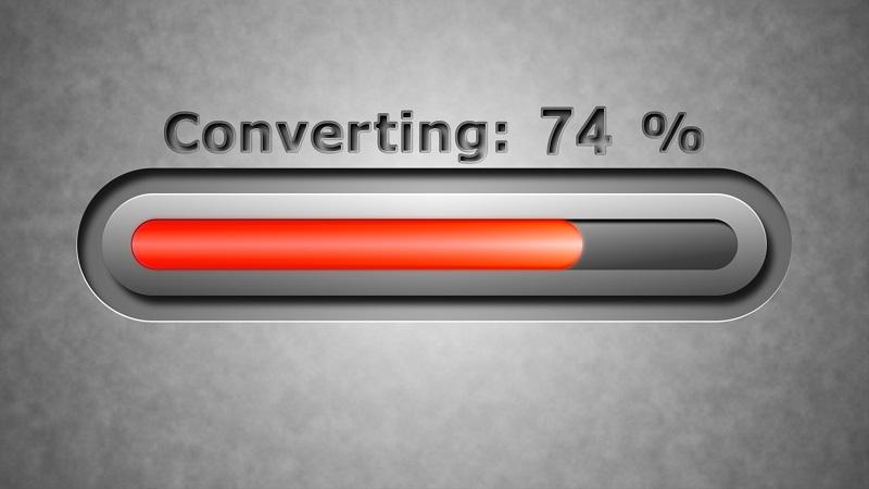 A digital conversion bar.