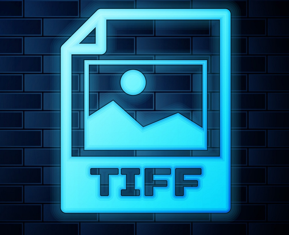 A picture of the TIFF icon in a neon color.