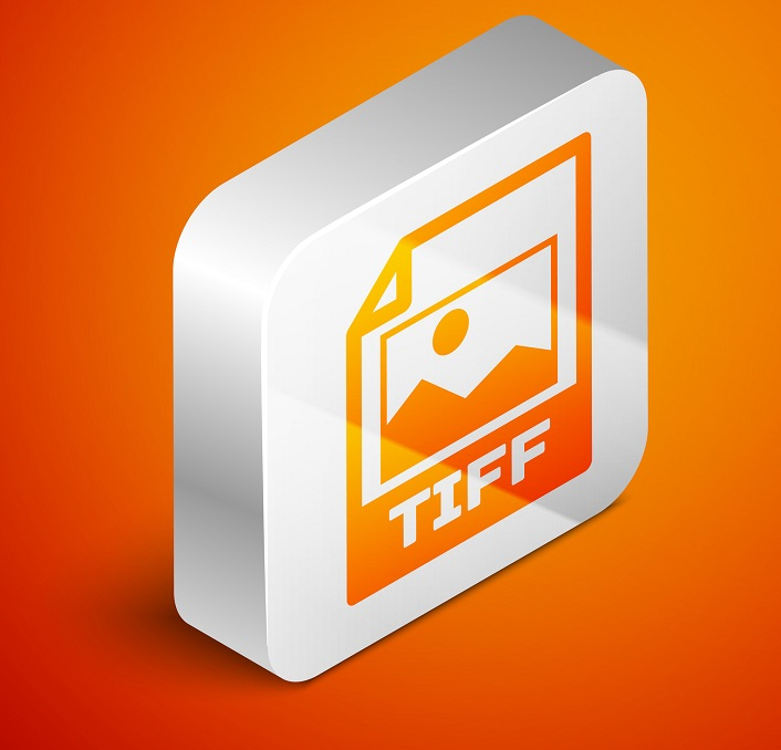 The TIFF file in a cube form.