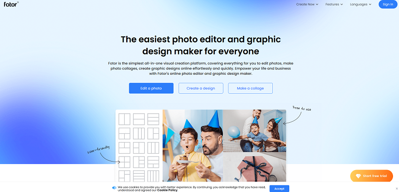The Fotor website.