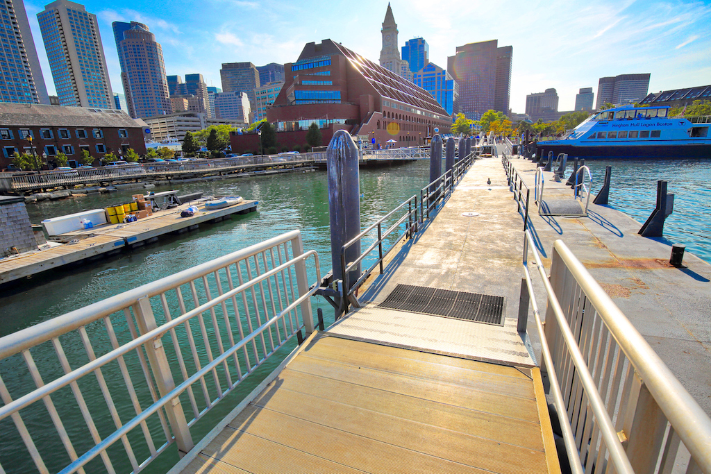 Photo of Boston and its downtown waterfront.