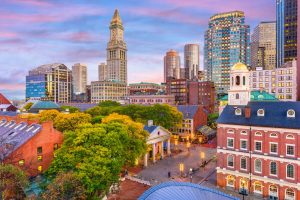 Photograph of Downtown Boston.