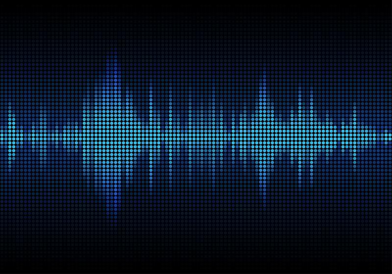 A digital representation of sound waves.