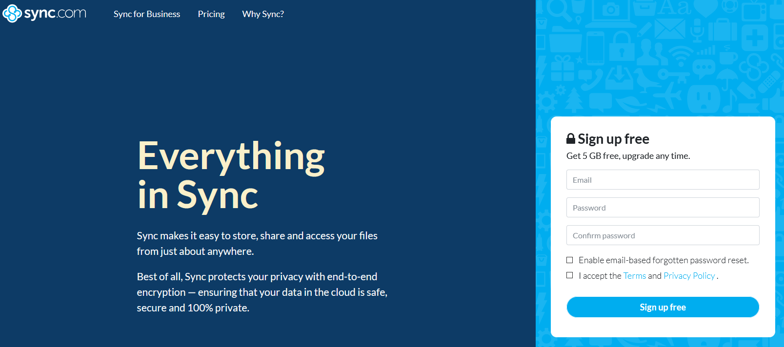 The Sync website.