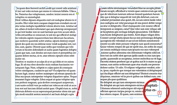 A layout scheme of words in InDesign.