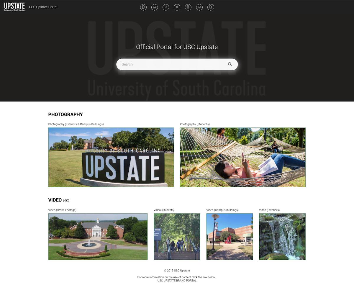 Screenshot eines Canto Portals von USC Upstate