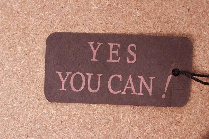 A slogan on a tag.