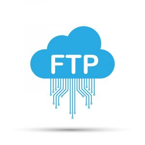 Eine animierte Cloud für das File Transfer Protocol.