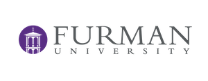The logo of Furman University.
