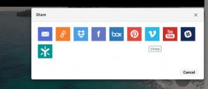 Screenshot eines Dialogfensters im DAM-System von Canto, das mithilfe von Logos die verschiedenen unterstützten Möglichkeiten zur Freigabe eines Assets darstellt.