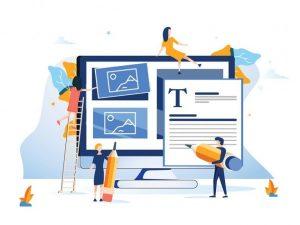 Eine Gruppe von Mitarbeitern verwendet eine Software für Grafikdesign und nutzt dabei die InDesign Tipps und Tricks.