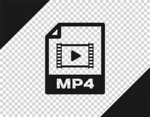 Das Logo für das MP4-Dateiformat.