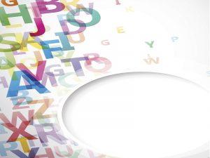 Ein Durcheinander aus Wörtern und Buchstaben.