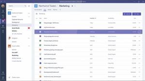 Ein Screenshot der Benutzeroberfläche von Microsoft Teams.