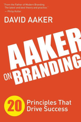 The book cover of Aaker on Branding.
