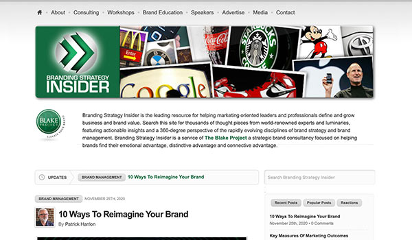The Branding Strategy Insider website.
