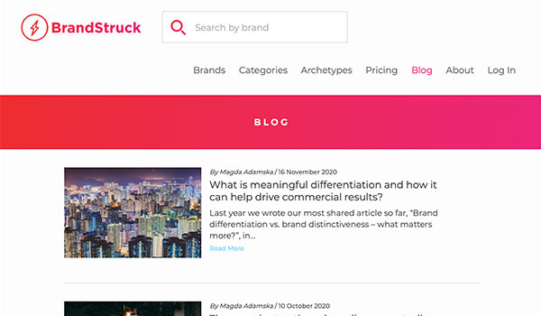 The Brand Struck website.