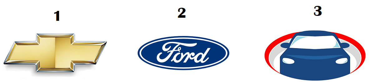 Different automobile company logos.