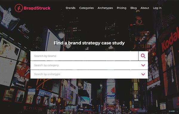 The BrandStruck website.