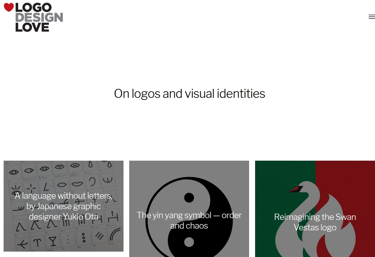A picture of the Logo Design Love website.