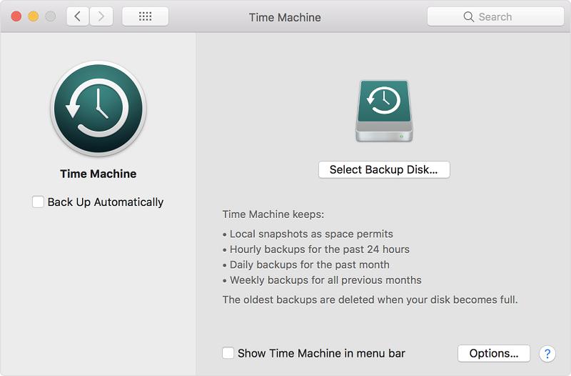 The Mac Time Machine application.
