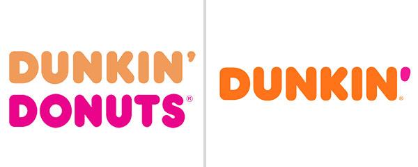 The Dunkin' Donuts logo.
