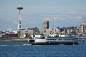 Die Skyline von Seattle.