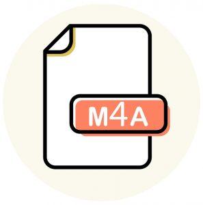 Das Symbol des Audio-Dateityps .M4A.