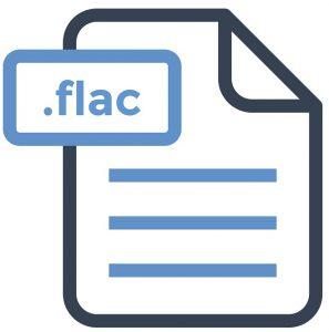 Das Symbol des Audio-Dateityps .FLAC.