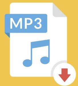 Das Symbol des Audio-Dateityps .MP3.