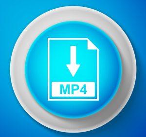 Das Symbol des Audio-Dateityps .MP4.