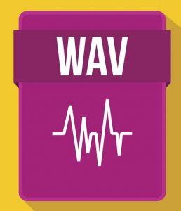 Das Symbol des Audio-Dateityps .WAV.
