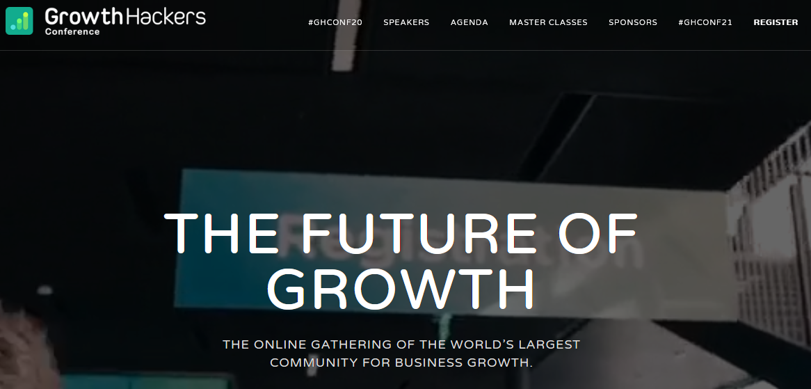 The Growth Hackers page.
