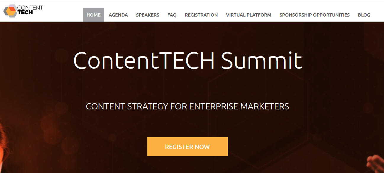 The ContentTech Summit page.