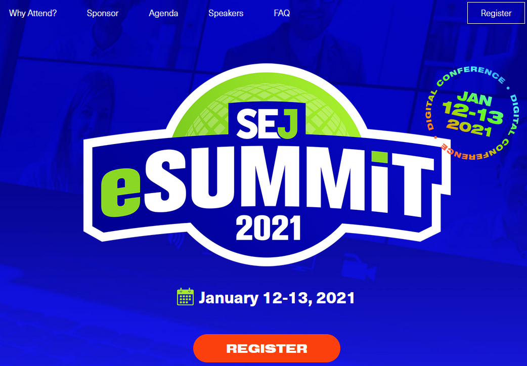The SEJ eSummit page.