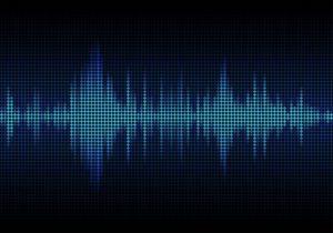 Eine digitale Darstellung von Schallwellen, wie sie auch in Dateien im FLAC-Audioformat vorkommen.