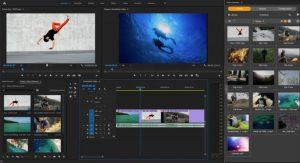 Ein Screenshot des Adobe Connectors beim Einsatz in Premiere Pro.