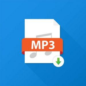 Ein Dateisymbol für das MP3-Audioformat.