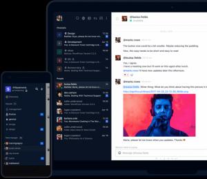 Ein Screenshot der Benutzeroberfläche von Rocket.Chat, eine der Slack-Alternativen.