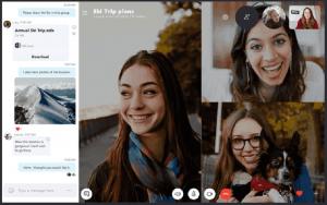 Ein Screenshot der Benutzeroberfläche von Skype, eine der Slack-Alternativen.