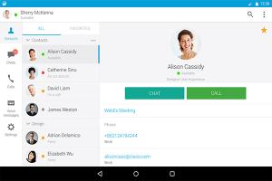 Ein Screenshot der Benutzeroberfläche von Cisco Jabber, eine der Slack-Alternativen.