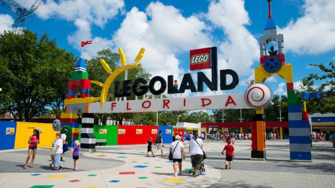 The Florida LegoLand entrance.