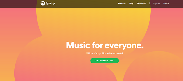 The Spotify website.