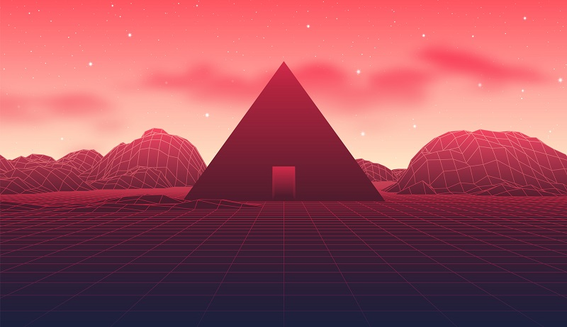 A digital pyramid.